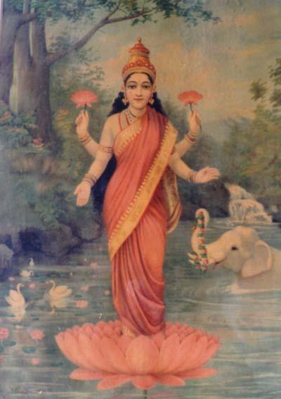 mahalakshmi goddess Painting