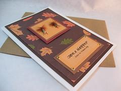 Fall Fishing Fly Greeting Card (GwynnsGifts) Tags: fallleaves handmade card flyfishing greetingcard fishingfly