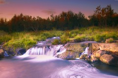 River of dreams ... (asmundur) Tags: longexposure art colors manipulated river photography waterfall iceland lab personal fake kitsch reykjavik whirlpool valley saturation emotional orthodox false integrity pwl paintwithlight elliardalur ellia diamondclassphotographer lightdodging