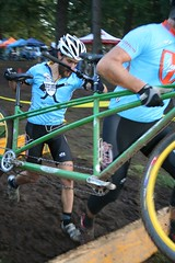 Tandem cyclocrossers now have their own class in NYC. by Steve Ransom