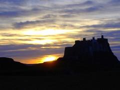 Lindisfarne castle sunset