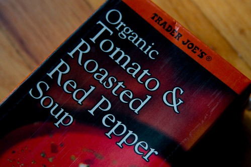 tj's tomato & roasted red pepper soup