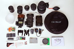 Camera bag unpacked (neilcreek) Tags: camera canon bag flash sigma gear photographic equipment kit tamron lenses lowepro
