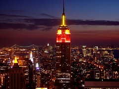 Empire State Building (DP|Photography) Tags: nyc newyorkcity sunset vacation urban usa india night clouds manhattan empirestatebuilding orissa topoftherock debashispradhan photosbyinfoscion dpphotography dp|photography