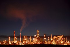 Petro Canada @ Dusk (A guy with A camera) Tags: fab canada industry night energy industrial edmonton dusk smoke gas pollution alberta oil environment petrol gasoline refinery fuel petrocanada stacks crude petroleum fossilfuel petrochemicals supershot abigfave platinumphoto anawesomeshot superbmasterpiece adoublefave