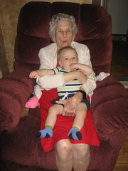 Ian with Great-Grandma Rowland
