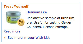 Amazon suggested purchase: Uranium!