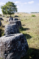 Plain of Jars (site 1) (Keith Kelly) Tags: city megalithic rock stone mystery carved ancient masonry enigma historic sacred mysterious burial laos plain jars funerary enigmatic megalith ritualistic mythic chiseled chiselled site1 phonsavan xiengkhuang revered laopeoplesdemocraticrepublic laopdr thonghaihin xiengkhuangprovince