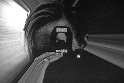 self-portrait, camera in camera