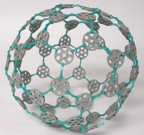 how to make buckminsterfullerene model
