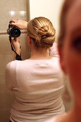 Hair Trial (JMPrice11) Tags: reflection canon hair mirror january tamron 2008 canonrebelxt weddingplanning tamron2875mmf28 weddinghair jan08 hairandmakeuptrial