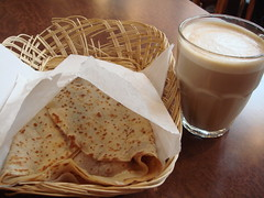 """Big Ben"" Crepe And Cafe Au Lait"