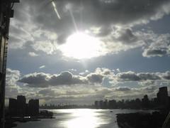 The East River (Keith Mac Uidhir  (Thanks for 2.5m views)) Tags: new york usa united states america nyc ny manhattan brooklyn queens long island east river sky sun sunshine sunlight cloud clouds cloudy shine light blue skyline roosevelt bridge scenicsnotjustlandscapes        ciel himmel cielo    langit obloha g hemelgewelf bu tri cu  gkyz  taivas niebo   muxanh    blauw bleu asul blau     biru blu niebieski   mavi