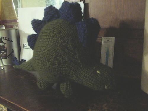 Stegosaurus, three quarters view