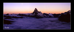 matterhorn's sunrise (Heilah Alnasser) Tags: mountain alpes sunrise schweiz switzerland nikond100 summit zermatt valais mountainsalps vob altitude4478m summitmatterhorn heilah avision megashot nikkor1870f3545 mslandscape