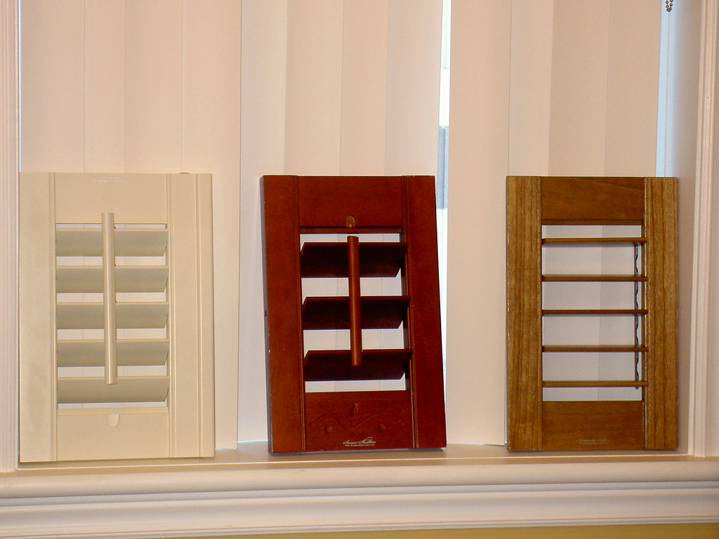 Shutters samples open and close up