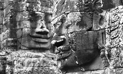 Bayon - two faces (Vidwatts) Tags: fp4 leicamp id1111 75mmsummicron