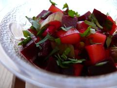 Beet-mango salsa