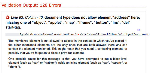 WTF?! My new blog template has 128 errors?!