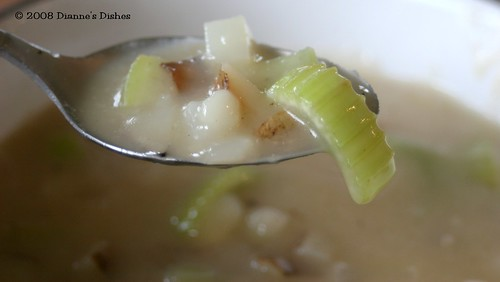 Creamy Potato and Celery Soup: A Spoonful