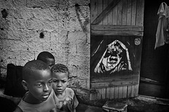 Brotherhood... (carf) Tags: boy brazil bw streetart art home boys brasil kids painting children hope graffiti blackwhite kid stencil community education support paint artist grafitti child hummingbird risk arts culture thoughtful esperana social altruism spray eldorado christian urbanart help thoughts volunteering thinking change shanty athome educational shack spraypaint carf beijaflor favela development investment prevention sponsors cultural sponsorship sponsoring atrisk changemakers c215 ecbf artinthemaking everyoneachangemaker rcbf espaoculturalbeijaflor redeculturalbeijaflor hummingbirdculturalnetwork