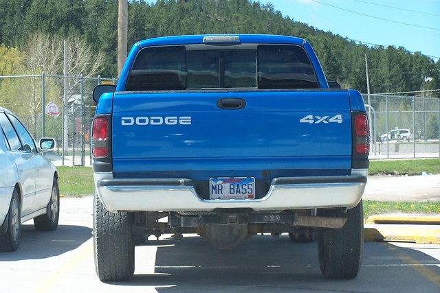blue southdakota truck 4x4 tag vanity pickup licenseplate dodge ram 2008 personalized custer dx6490 6123 mrbass
