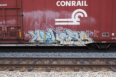 Velcro (Short Arm Disorder) Tags: train graffiti velcro freight sts mfk upsk