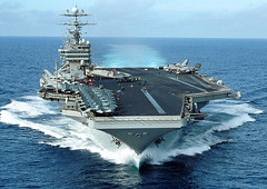 USS George Washington (US Navy) Tags: technology power military navy nuclear aerial submarine aircraftcarrier naval georgewashington gw job reactor subs career bowwave cvn73 shipid bowshot cv73 nupoc