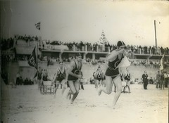 Glenelg Surf Life Savers in action - David on belt, followed by Fred (contemplari1940) Tags: glenelg surf life savers south australia