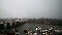 flurries over Washington Channel (Beau Finley) Tags: snow flurries dc washingtondc washingtonchannel hainspoint potomacriver potomac beaufinley
