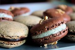 chocolate black sesame macaron 1