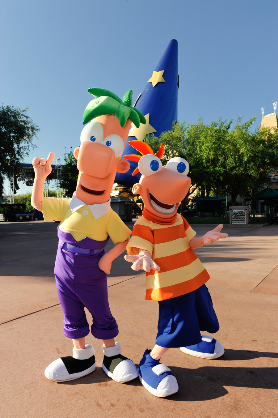 Disney Channel Duo Phineas and Ferb at Disney's Hollywood Studios