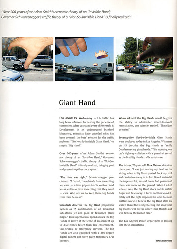 Nuke Magazine - Endurance Issue - Giant Hand article