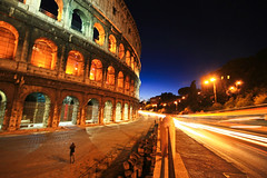 Colosseum (` Toshio ') Tags: longexposure italy rome building history night ancient europe roman colosseum lighttrails europeanunion toshio coloseo mywinners abigfave