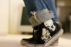 NoBloShoeMo: Nov. 4th, 2007 (Fenchurch!) Tags: skulls skull shoes vans hitops fenchurch sk8hi nobloshoemo