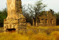 Stonework (arcanericky) Tags: chimney building architecture store ruins rocks fort stones decay ghost ft griffin fortgriffin sutlers ftgriffin