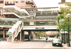 "Clinton Station / Chicago ""el"" (sftrajan) Tags: 2005 chicago station metro transport el masstransit elevated"
