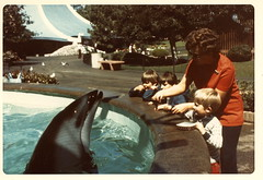 Mother and I, Sea World, San Diego 1976 (Boonlong1) Tags: california sandiego 1970s