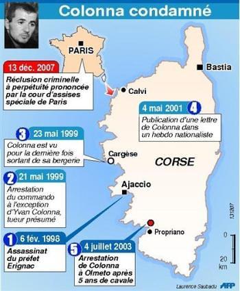 Historia de la detención de Colonna, contada por la AFP