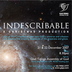 Invitation to INDESCRIBABLE : GTPJ's Christmas Production (Liyin the Creative-Extraordinaire) Tags: studio design creative malaysia selangor indescribable liyin gtpj gladtidingspetalingjaya httpwwwflickrcomphotosliyin christmasproduction httpwwwflickrcompeopleliyin liyinphotography liyindesign liyinillustration liyincartooncaricature liyincreativeprofessional liyindesigner liyingraphicdesignmalaysia liyintraveler designerinpajamas designerinpyjamas httpdesignerinpajamaswordpresscom designerinpajamaswordpresscom