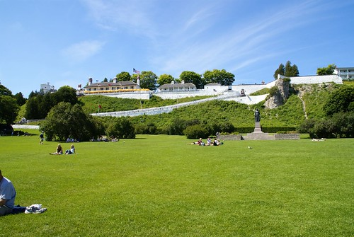 Wide Angle of Fort Mackinac