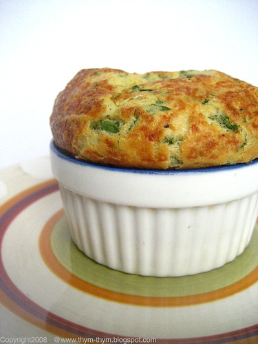 Leeks and Gruyere Souffle