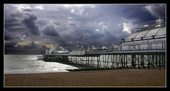 Eastbourne pier (Roger.C) Tags: sea england sky water clouds canon sussex pier victorian dramatic eastbourne amusements 30d anawesomeshot aplusphoto