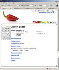 Chili Fresh Admin Panel