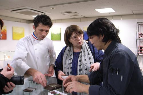 Ms. Christine Ferber, Mr. Édouard Hirsinger, and Mr. Sadaharu Aoki, Salon du Chocolat Tokyo, Shinjuku Isetan