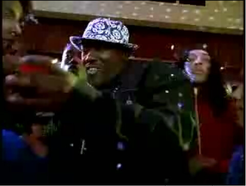 Scren capture Picture showing Rahzel at a party, big pimpin style