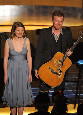 Musicans Marketa Irglova and Glen Hansard onstage during the 80t