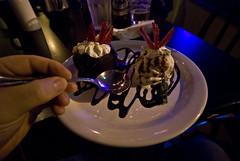 Chocolate Lava Cake (Glockoma) Tags: seattle portrait food selfportrait me rain dinner self myself mine yum chocolate rob year2 wallingford day66 chocolatelavacake robjones 365days rainsushi