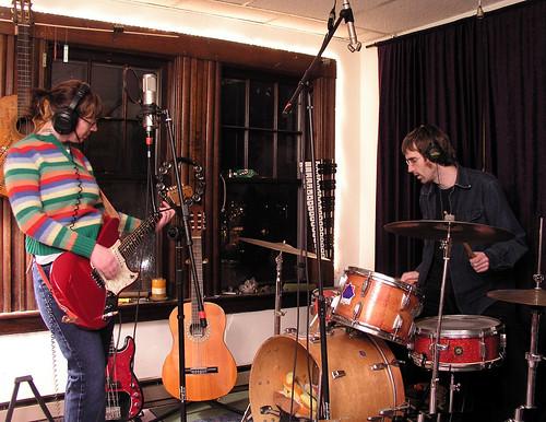 Lesa Bezo and Henning Ohlenbusch in Old Rub Wrongways Studio