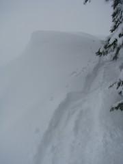 Snow ridge.